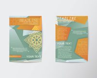 Brochure Flyer Abstract Thai style template in A4 size Royalty Free Stock Photo