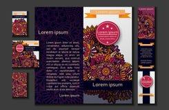 Brochure flyer or booklet design template Stock Images