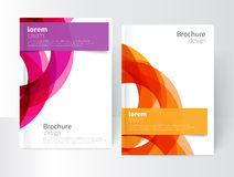 Brochure, flyer cover template Stock Image