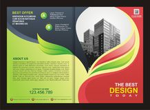 Brochure, Flyer, Template with Fire Design Royalty Free Stock Photo