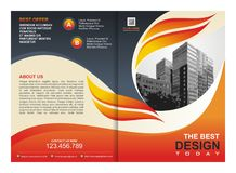 Brochure, Flyer, Template with Fire Design Stock Images