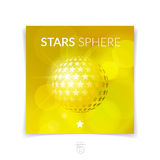 Brochure, flyer with 3D sphere of geometric shapes. Vector illus Royalty Free Stock Images
