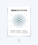 Brochure, flyer with 3D sphere of geometric shapes. Vector illus Stock Photos