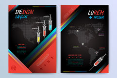 Brochure Flyer design Layout template in A4 size. Royalty Free Stock Images