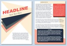Brochure flyer design layout template size a4, editable vector illustration