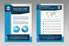 Brochure flyer design layout template. A4 size Royalty Free Stock Image