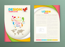 Brochure Flyer design Layout template with success Stock Photo