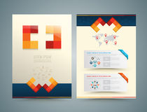Brochure or flyer design medical style. Stock Photo