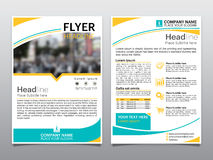 Brochure flyer design template  Royalty Free Stock Photography