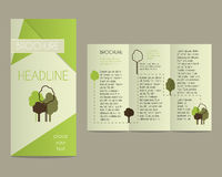 Brochure and flyer design template in polygonal Stock Photos