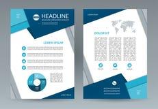 Brochure flyer design template. A4 size vector illustration