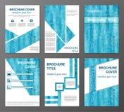 Brochure and flyer design templates set Royalty Free Stock Photos