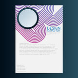 Brochure Flyer design vector template. Eps 10.  Royalty Free Stock Photos