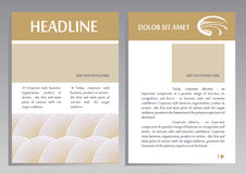 Brochure Flyer design vector template in A4 size stock illustration