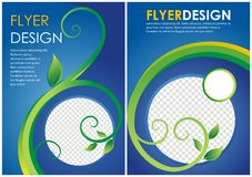 Brochure flyer floral design in a4 size layout template Stock Photo