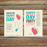 Brochure Flyer Happy Valentine's Day design vector Royalty Free Stock Photo