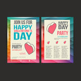 Brochure Flyer Happy Valentine's Day design vector Royalty Free Stock Image