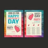 Brochure Flyer Happy Valentine's Day design vector Royalty Free Stock Image