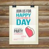 Brochure Flyer Happy Valentine's Day design vector Stock Photo