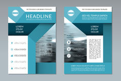 Brochure flyer layout template. A4 size. Front and back page. Can be used for annual report, booklet, catalog, presentation, book cover, leaflet. Vector stock illustration