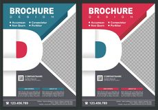 Brochure - Flyer with letter `P` logo style cover stock illustration