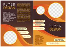 Brochure flyer luxury design in a4 size layout template Royalty Free Stock Image
