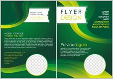 Brochure flyer luxury design in a4 size layout template Royalty Free Stock Images