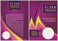 Brochure flyer luxury design in a4 size layout template Stock Image