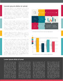 Brochure, flyer, newsletter, annual report layout template. Stock Image