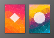 Brochure and flyer polygonal cover set Royalty Free Stock Photography
