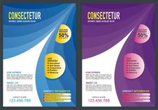 Brochure - Flyer Template Design Stock Photography