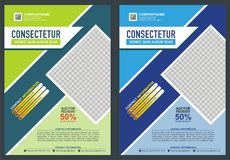 Brochure - Flyer Template Design Royalty Free Stock Photos
