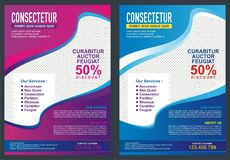 Brochure - Flyer Template Design Stock Photo