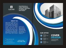 Brochure, Flyer, Template Design with Blue and Black color Royalty Free Stock Photography