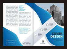 Brochure, Flyer, Template Design with Blue and White color Stock Photo
