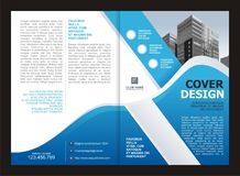 Brochure, Flyer, Template Design with Blue and White color Royalty Free Stock Photography