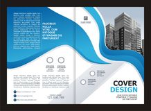 Brochure, Flyer, Template Design with Blue and White color Royalty Free Stock Photo