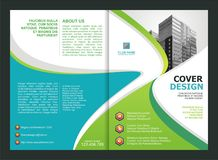 Brochure, Flyer, Template Design with Green and tosca color Royalty Free Stock Images