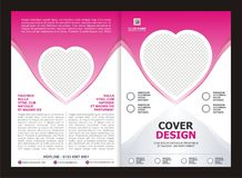 Brochure, Flyer, Template Design with Pink Color And love Royalty Free Stock Photos