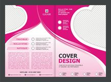 Brochure, Flyer, Template Design with Pink Color And love Royalty Free Stock Photography