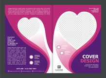 Brochure, Flyer, Template Design with Pink Color And love Royalty Free Stock Image