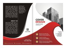 Brochure, Flyer, Template Design with Red and Black color Stock Photos