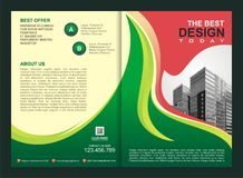 Brochure, Flyer, Template with Fire Design Royalty Free Stock Images