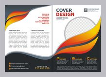 Brochure, Flyer, Template with Fire Design. Brochure, Flyer, Cover Template with fire Design Royalty Free Stock Photos