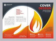 Brochure, Flyer, Template with Fire Design. Brochure, Flyer, Cover Template with fire Design Stock Photography