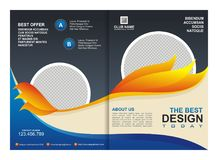 Brochure, Flyer, Template with Fire Design Stock Photo