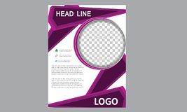 Brochure Flyer Template Magazine Cover Booklet Layout Poster Annual Report Illustration A4 page Business Company Leaflet Headline royalty free stock photography