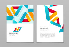 Brochure flyer vector design template with business abstract shapes background stock illustration