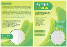 Brochure flyer wave design in a4 size layout template Royalty Free Stock Image