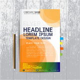 Brochure, flyers, poster, design layout template in A4 size with Royalty Free Stock Photography